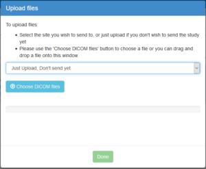 ShareMyXray's Upload files dialog